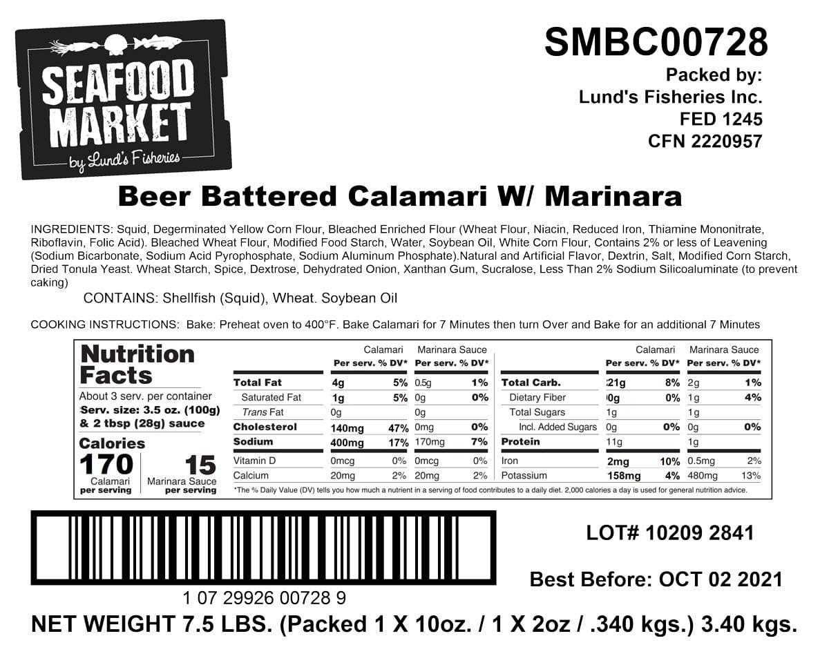 Beer Batter Breaded Calamari