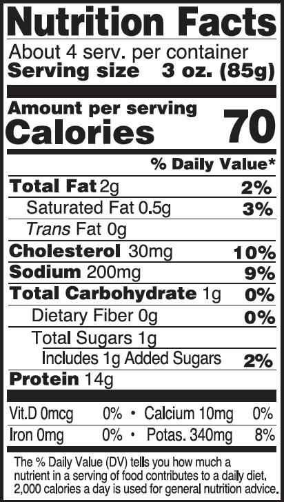 Scallops Nutritionals